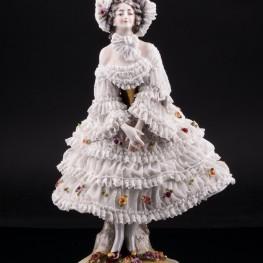 Вера Фокина в балете Карнавал, кружевная, Volkstedt, Германия, до 1935 г