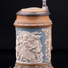 Певцы, 1/2 л, Villeroy & Boch, Mettlach, Германия, 1896 г