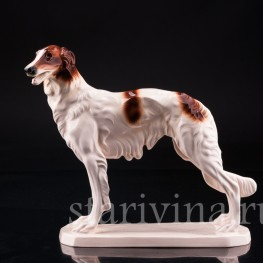 Статуэтка собаки из фарфора Борзая, Hertwig & Co, Katzhutte, Германия, сер. 20 в.