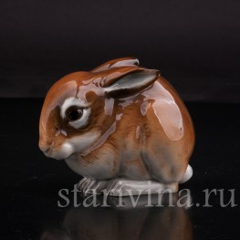 Фигурка из фарфора Сидящий кролик, Hutschenreuther, Германия, 1970 г.