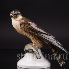 Фарфоровая статуэтка птицы Ястреб с добычей, Hutschenreuther, Германия, 1920-38 гг.